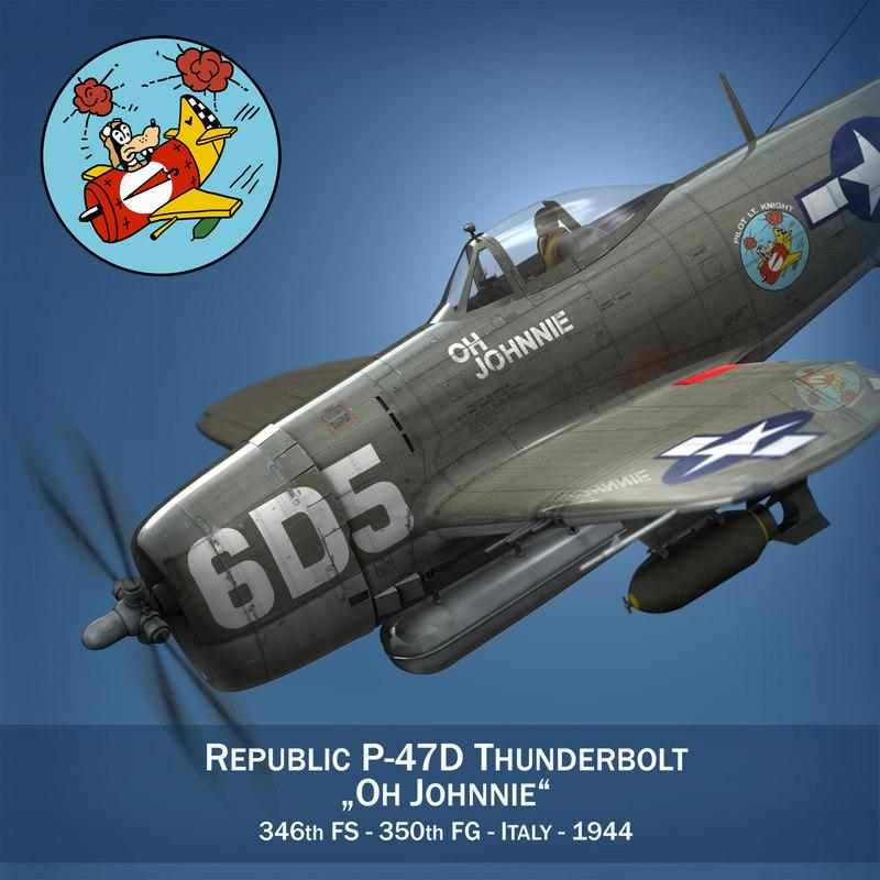 republic p-47 thunderbolt - 3d obj