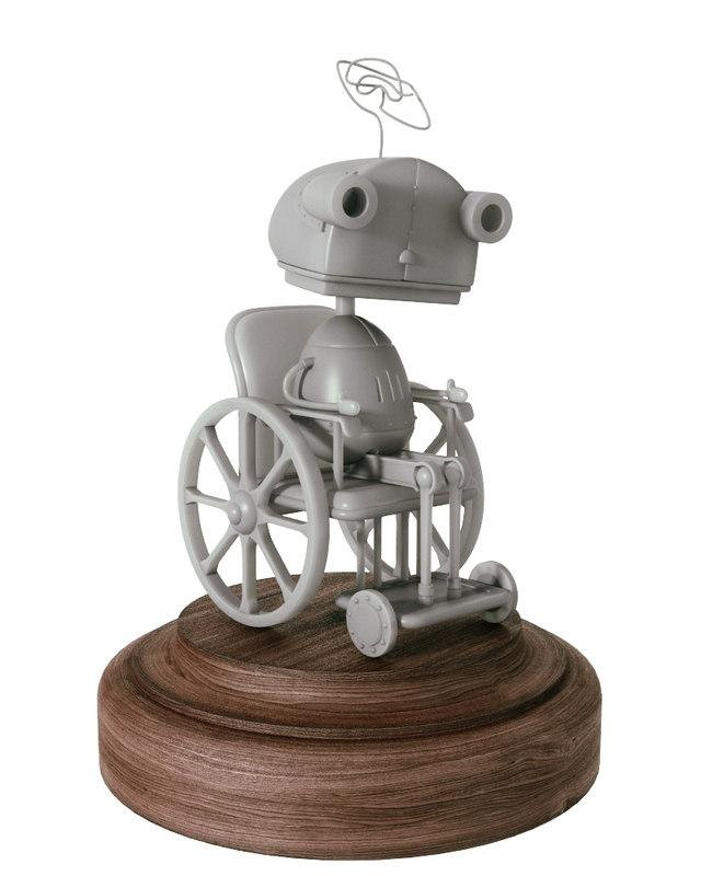 3d model robot grandmother machinarium