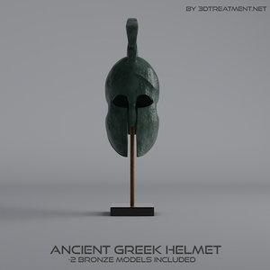 ancient greek helmet 3d c4d