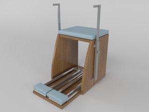 3d combo chair pilates model