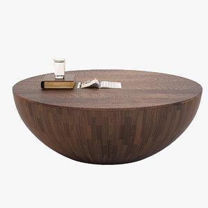 semisfera coffee table 3d max