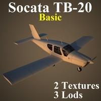 socata basic 3d max