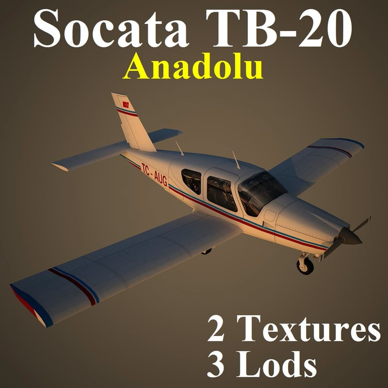3d socata anadolu low-poly model