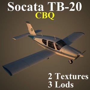 socata cbq 3d model