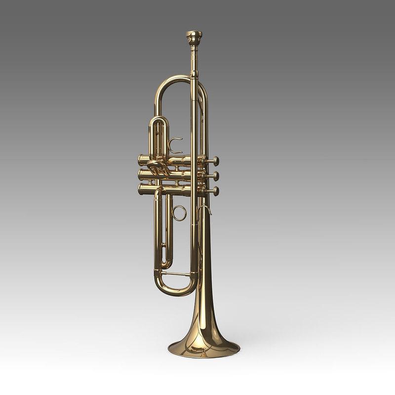 3d model trumpet musical instruments