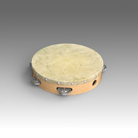 3d model tambourine musical instruments