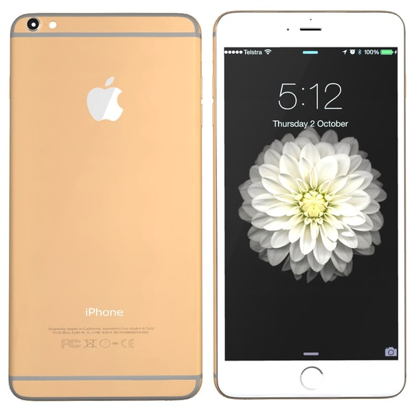 modelled iphone 6 gold 3ds