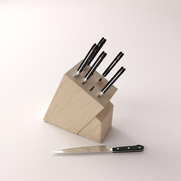 knife block v2 3d model