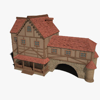 big fantasy house 3d model