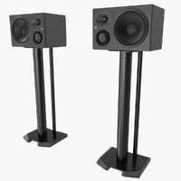 3d model of speaker stand