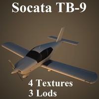 socata tampico low-poly 3d max