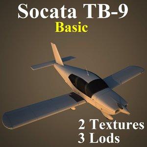 3d model socata basic