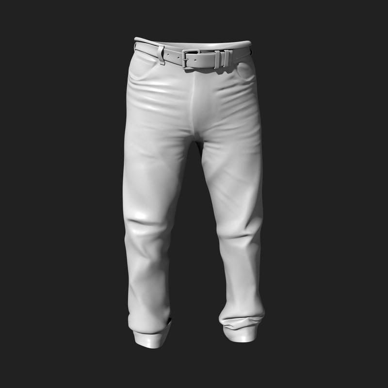 3d model of pants belt