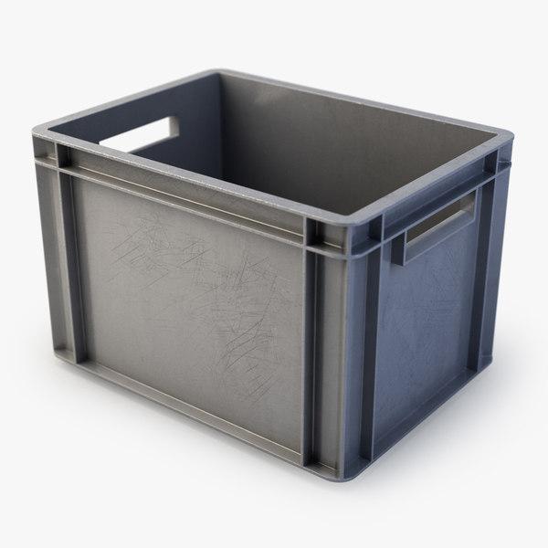 3d plastic box model