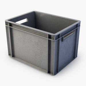 3d plastic box model