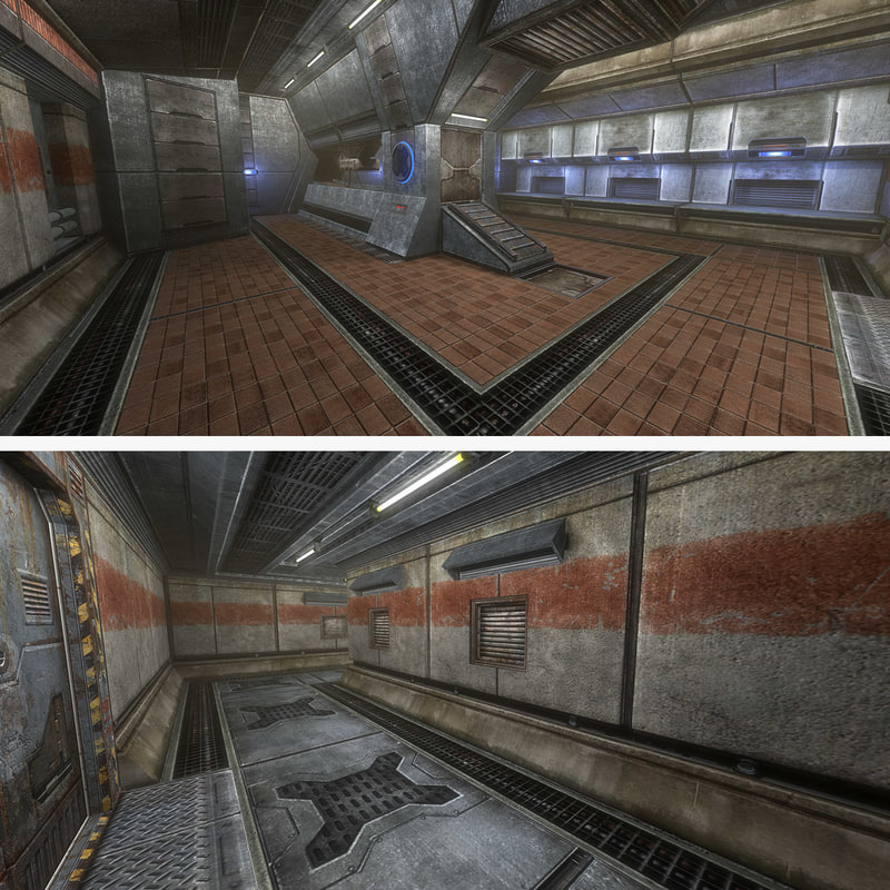 sci-fi interior foundry big 3d obj