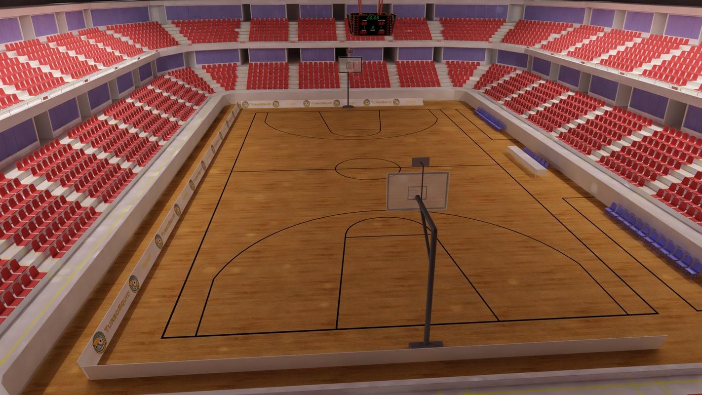 3dsmax basketball stadium