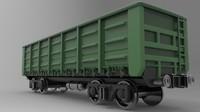 3d railway gondola car