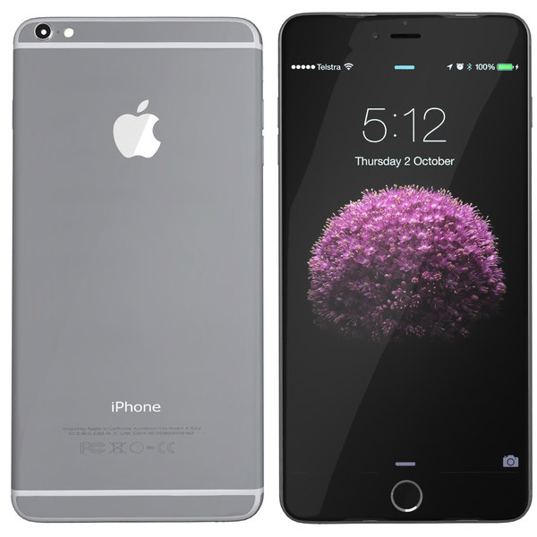 3d modelled iphone 6 spacegrey