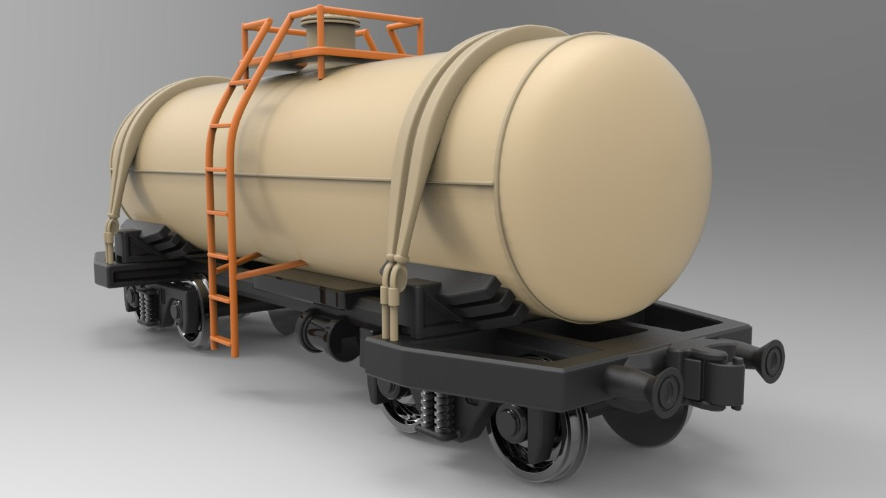 railway tank car 3d model