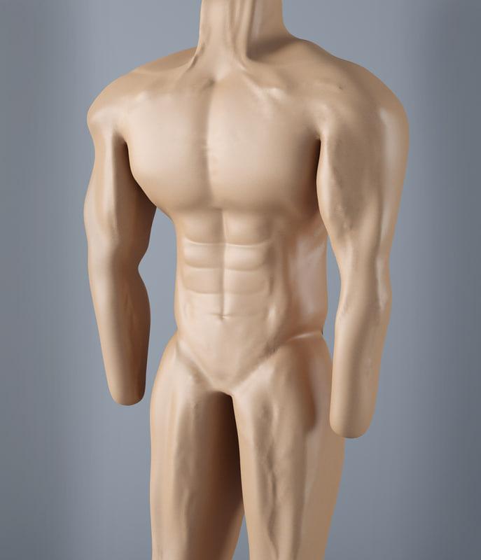 3d model man muscular
