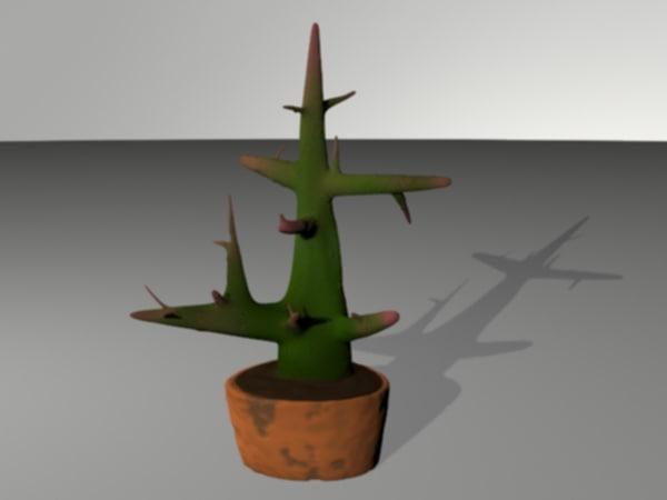 3d plant cactus model