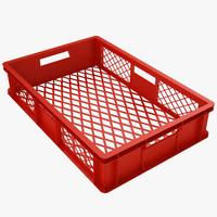 Plastic Crate 3 Red