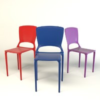 plastic chair 3d max