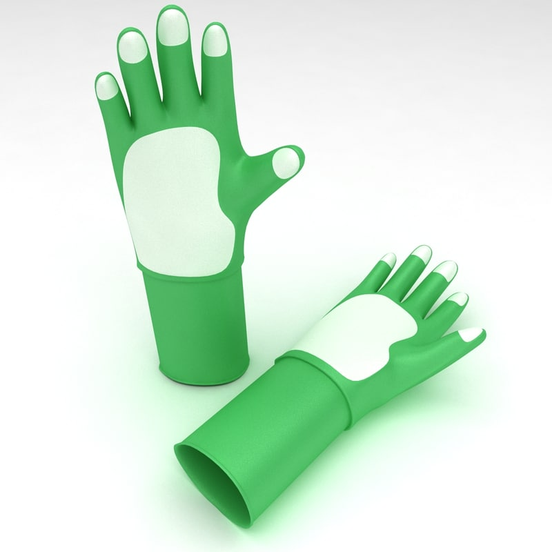 3d garden gloves pair model