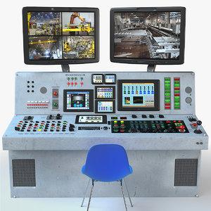 control panel desk 3d model