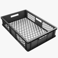 Plastic Crate 3 Black
