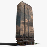 office building 5 3d model