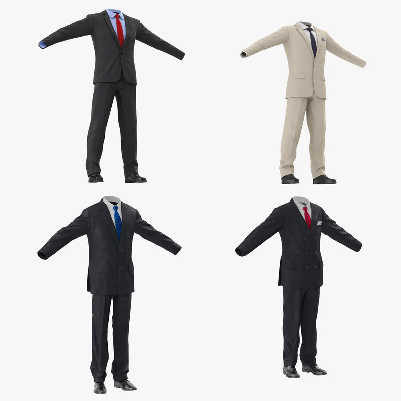 men suits 3d model