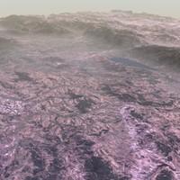 3D model arid hills terrains