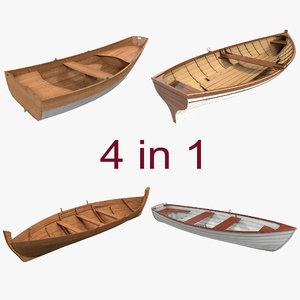 3d model rowboats 2