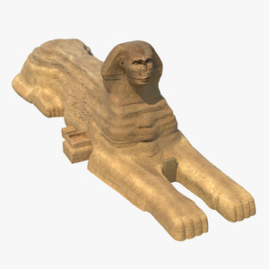great sphinx giza 3d model