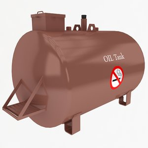 oil tank 3d obj