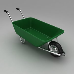 3d garden wheel barrow model