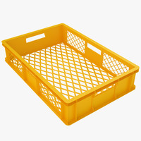 Plastic Crate 3 Yellow