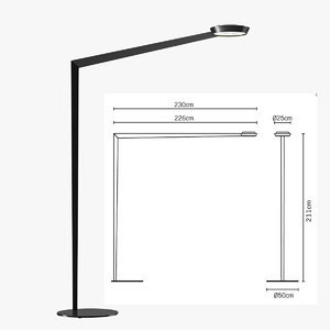 3d model floor lamp fabbian f05c0102