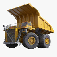 haul truck generic yellow 3d model