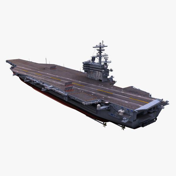 3d model uss aircraft carrier