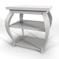 3d white vera sidetable model