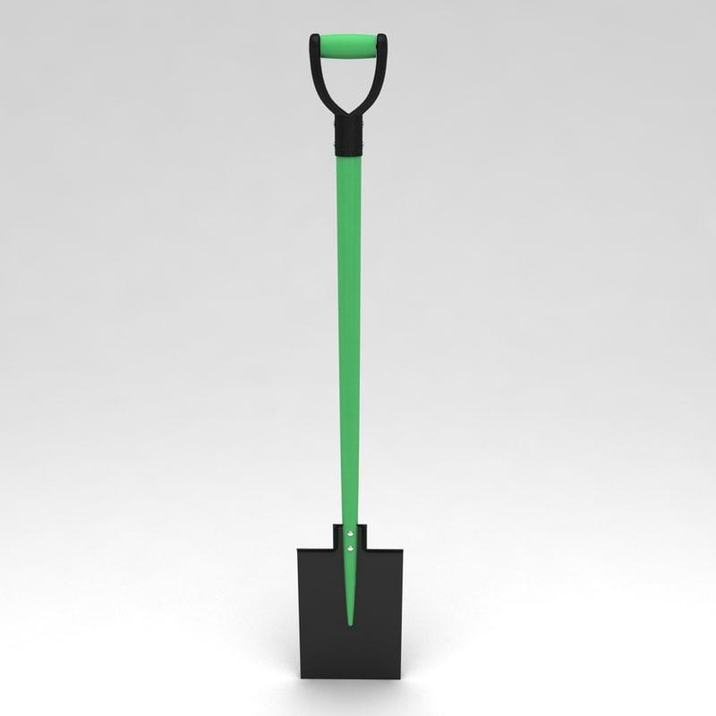 3d garden spade tool