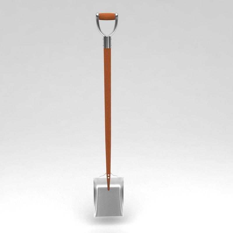 3d curved garden spade tool