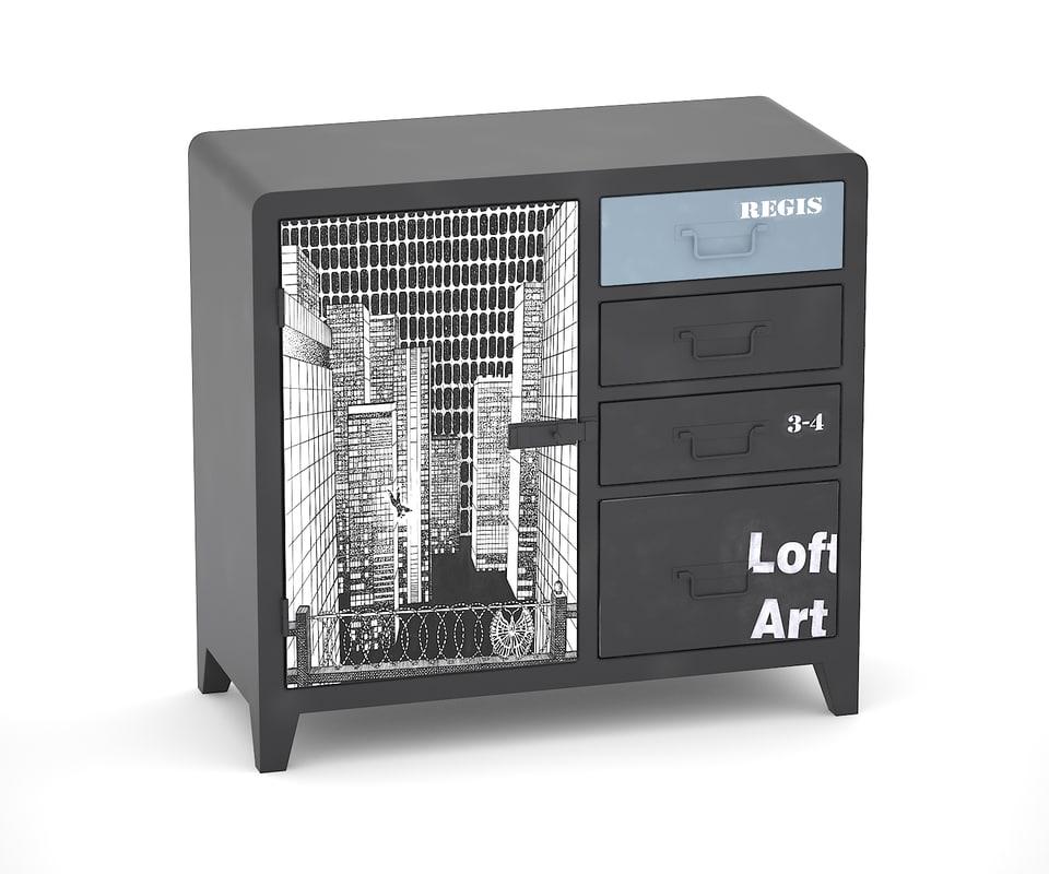 black white loft art 3ds