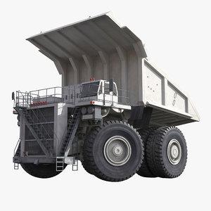 mining truck generic white 3d x