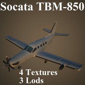 max socata low-poly aircraft