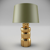 3d model boulder table lamp