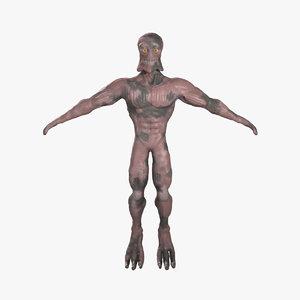 3d creature stone model